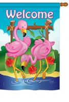 Flamingos House Flag