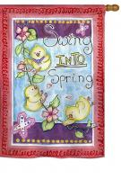 Swing into Spring House Flag