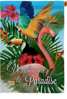 Tropical Bird Paradise House Flag