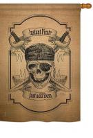 Instant Pirate Burlap House Flag