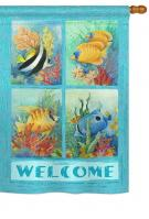 Tropical Fish Collage House Flag
