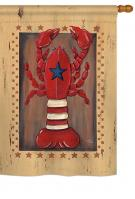 Patriotic Lobster House Flag