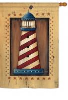 Patriotic Lighthouse House Flag