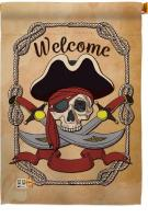Ahoy Pirates House Flag