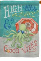 Octopus Good Vibes House Flag