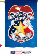 Police Applique House Flag
