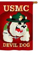 Devil Dog House Flag