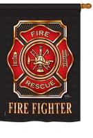 Fire Fighter House Flag