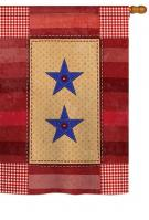 Two-Star Service Vintage House Flag