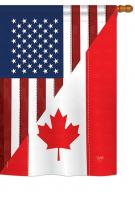 US Canada Friendship House Flag