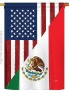 US Mexico Friendship House Flag