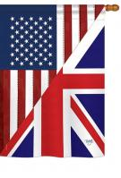 US UK Friendship House Flag