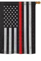 US Red Stripe Garden Flag