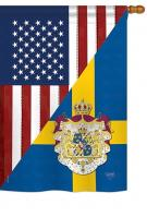 US Sweden Friendship House Flag