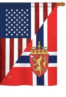 US Norway Friendship House Flag