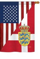 US Denmark Friendship House Flag