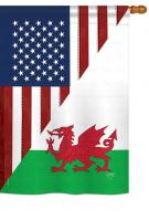 US Wales Frienship House Flag
