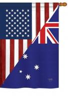 US Australia Friendship House Flag