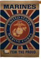 Marine Corps Decorative House Flag