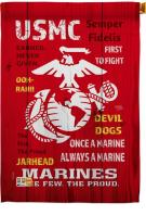 USMC Decorative House Flag