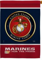 Proud Marine Corps Decorative House Flag