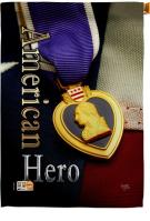Purple Heart Hero House Flag