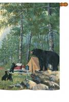 Bears Campsite House Flag