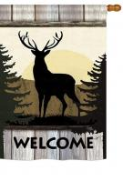 Welcome Wild Deer House Flag