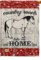 Country Roads Horse House Flag