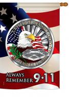 Always Remember 9-11 House Flag