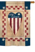 Old Glory Heart House Flag