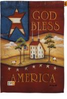 God Bless America Decorative House Flag