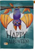 Happy Halloween Bat House Flag