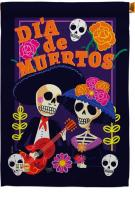 Dia De Muertos Couple House Flag
