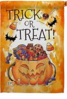 Trick Or Treat Candys House Flag