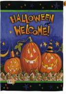 Halloween Welcome House Flag