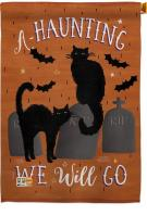 Haunting We Go House Flag
