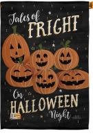 Fright On Halloween Night House Flag