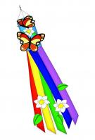 Butterfly Applique Windsock 12\