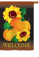 Welcome Pumpkin House Flag