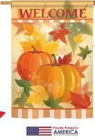 Welcome Fall Pumpkins House Flag