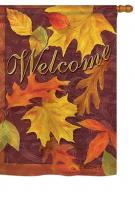 Fall Leaves House Flag