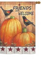 Friends Welcome Crows Garden Flag