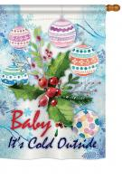 Baby It\'s Cold House Flag
