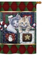 Christmas Calendar Kittens House Flag