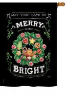 Merry & Bright House Flag