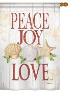 Peace Joy Love Garden Flag