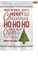 Christmas Wishes Words House Flag