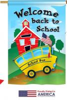 School Bus House Flag