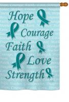 Hope, Faith, Courage (Teal) House Flag
